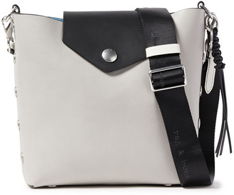 Rag & Bone Atlas Snap-detailed Two-tone Leather Bucket Bag
