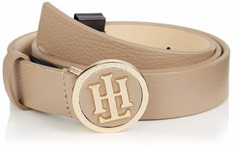 Tommy Hilfiger Women's Th Round Buckle Belt 3.0