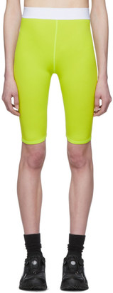 MSGM Yellow Biker Shorts