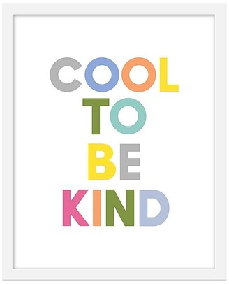 Pottery Barn Kids Cool To Be Kind White Framed Art