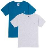 Petit Bateau Set of 2 boys plain T-shirts