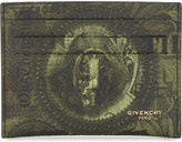 Givenchy Abstract Dollar Bill Leather Card Holder