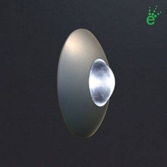 Bruck Lighting Ledra Orbi 1-Light LED Flush Mount Finish: Chrome, Color Temperature: 4000K White