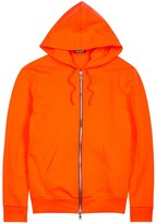 Balmain Orange Zipped Cotton Sweatshirt