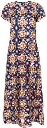 La DoubleJ printed maxi swing dress