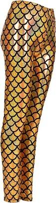MHIM Fish Scale Mermaid Leggings Slim Fit Sports Yoga Gym Festival Multi-Coloured