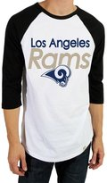 Junk Food Clothing Men's Los Angeles Rams Raglan - Black and White