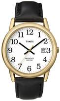 Timex Easy Reader White Dial With Black Leather Strap Watch T2h291