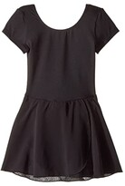 Bloch Cap Sleeve Skirted Leotard (Toddler/Little Kids/Big Kids) (Black) Girl's Dress