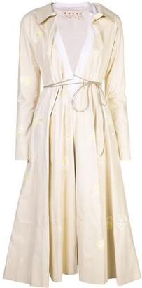 Marni Belted Floral Print Coat