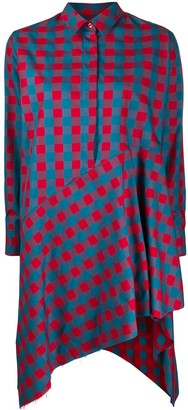 Marques Almeida Plaid Print Shirt Dress
