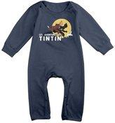SANKA D Les Aventures De Tintin Soviets Unisex Long Sleeve Bodysuits Rompers Babysuits