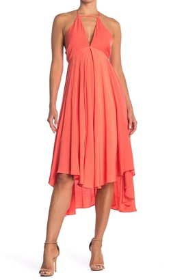 Do & Be Keyhole V-Neck Midi Dress