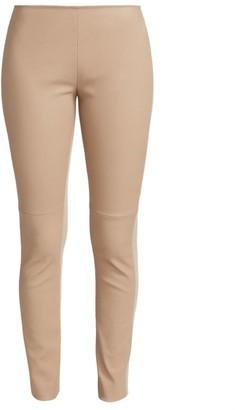 Akris Punto Fancy Leather Pants