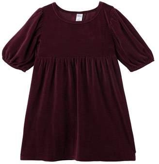 Harper Canyon Puff Sleeve Velour Dress (Little Girls & Big Girls)