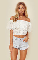 Miss June gaia eyelet off the shoulder top