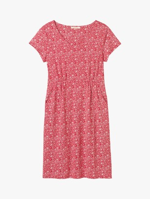 White Stuff Esther Abstract Print Jersey Dress, Rose Red