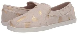 Sanuk Pair O Dice Prints (Black/White Palm Leaf) Women's Slip on Shoes