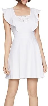 BCBGeneration Embroidered Apron Mini Dress