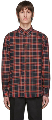 Givenchy Red and Black Check Piercing Shirt