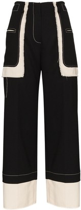 REJINA PYO Aubrey cropped panelled trousers