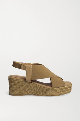 Castaner + Net Sustain Quilu 70 Canvas Wedge Espadrilles