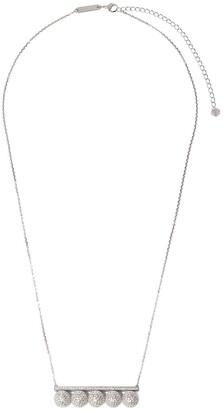 Tasaki 18kt white gold Balance Signature Decade diamond pendant necklace