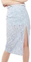 Topshop Women's Bonded Lace Midi Skirt