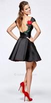 Tarik Ediz Prom Scoop Neck Structured Fit and Flare Cocktail Dress