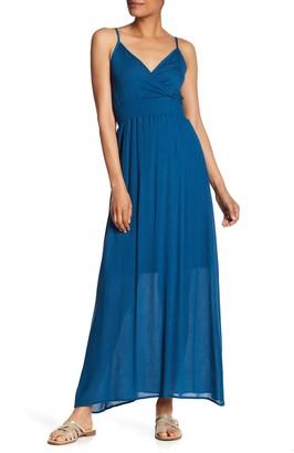 WEST KEI Solid Sleeveless Gauze Maxi Dress