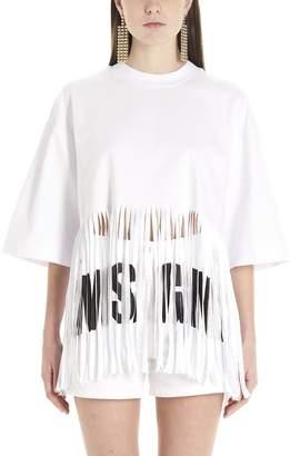 MSGM Fringed T-Shirt
