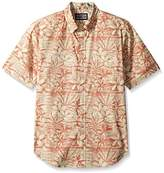Reyn Spooner Men's Cotton Tailored Fit Button Front Hawaiian Shirt