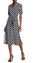 Leota Printed Maxi Shirt Dress