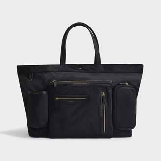 Anya Hindmarch Large Multi Pocket E/W Tote In Black Nylon