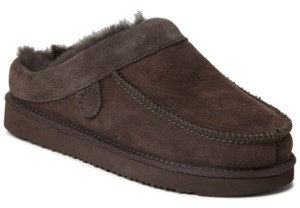 Dearfoams Fireside by Men's Griffith Moc Toe Clog Slippers Men's Shoes