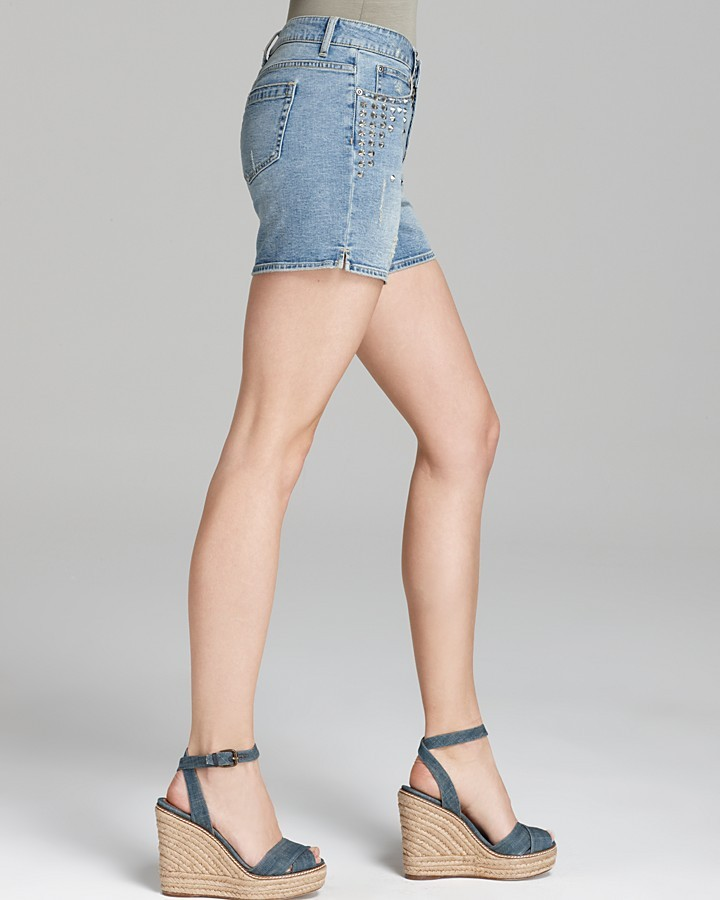 Vince Camuto Two by Studded Washed Shorts
