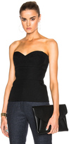 Victoria Beckham Wool Gabardine High Curved Bustier Top