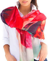 Lenox Lincoln + Womens Printed Cashmere Silk Scarf, Rome