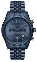 Michael Kors Lexington Navy IP Chronograph Watch