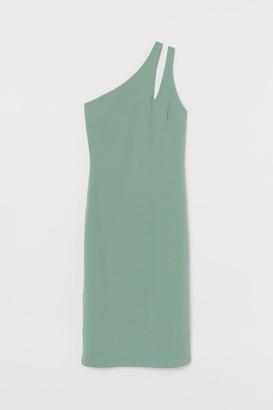 H&M One-shoulder Dress - Green