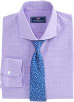 Vineyard Vines Purple Gingham Spread Collar Greenwich Shirt