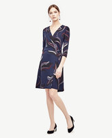 Ann Taylor Tall Autumn Floral Wrap Dress