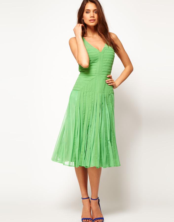 Asos Midi Dress with Applique Panel