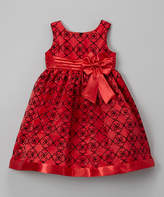Jayne Copeland Red Quatrefoil Dress - Infant, Toddler & Girls
