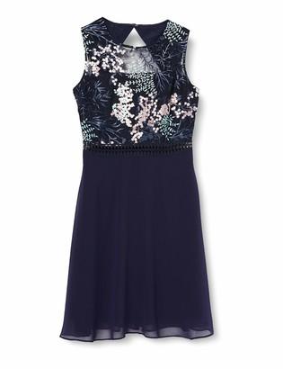 Amazon Brand - TRUTH & FABLE Women's Mini Lace A-Line Dress