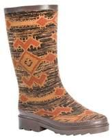 Muk Luks Women's Annabelle Aztec Print Rain Boots - Brown