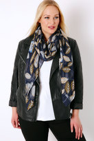 Yours Clothing Blue Owl Print Scarf