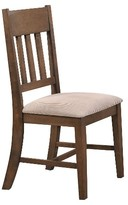 Acme Ulysses Side Dining Chair Wood/Weather Oak/Cream Fabric (Set of 2)