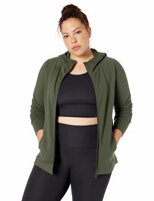 Core 10 Amazon Brand Women's Soft Cotton Modal French Terry Fleece Full-Zip Hoodie Sweatshirt