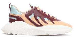 Roberto Cavalli Color-block Leather Sneakers